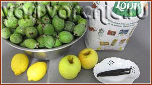 Ингредиенты варенья из фейхоа и яблок