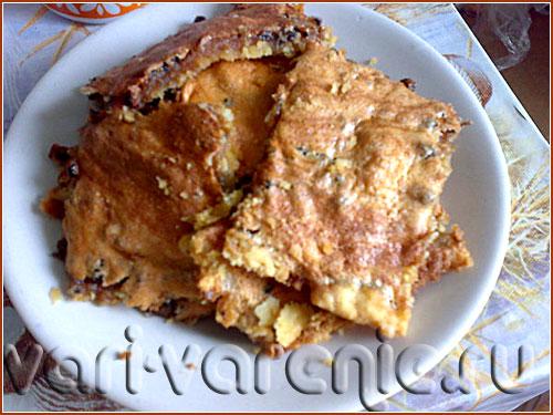 Простой рецепт пирога с вареньем фото
