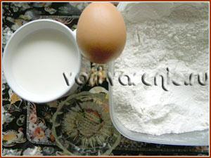 Продукты для теста на молоке
